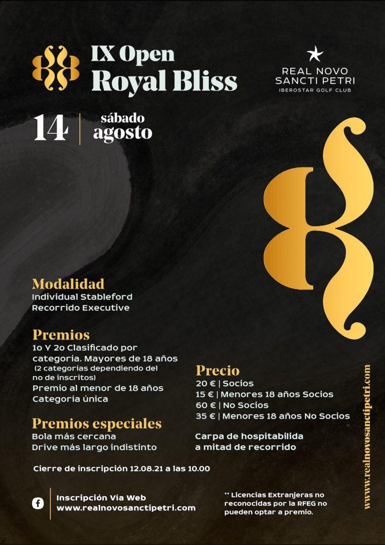 IX Open Royal Bliss - Real Novo Sancti Petri